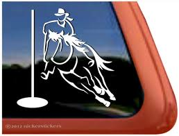 Pole Bending Gaming Horse Decals Stickers Nickerstickers
