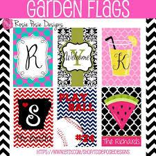 monogrammed custom garden flag design