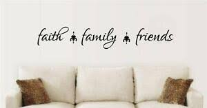 Faith Family Friends Vinyl Decal Wall Stickers Words Letters Quote Home Decor Ebay