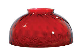 14 ruby dot optic dome shade antique