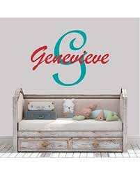 Amazing Deal On Girl S Custom Name And Initial Wall Decal Choose Your Own Name Initial And Letter Styles Multiple Sizes Vinyl Wall Stickers For Kids Custom Girl S Name Wall Vinyl Decal Sticker