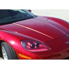 Corvette Hood Stripes Ls2 Corvette Decals 2005 2007 C6 Westcoastcorvette Com