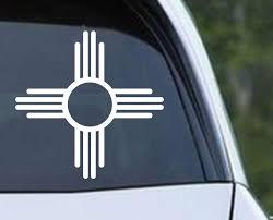 New Mexico Zia Sun Symbol Native American Die Cut Vinyl Decal Sticker Decals City
