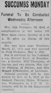 Ada Thompson obituary - Newspapers.com
