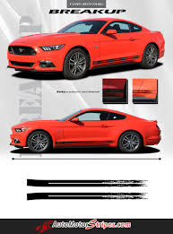 2015 2017 Ford Mustang Rocker Door Stripes Decal Breakup Vinyl Graphic Auto Motor Stripes Decals Vinyl Graphics And 3m Striping Kits