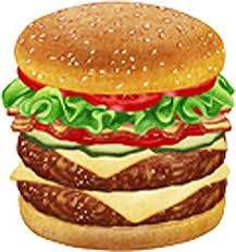Amazon Com Yummy Delicious Realistic Double Cheeseburger Cartoon Vinyl Decal Sticker 2 Tall Kitchen Dining