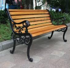 cast iron wrought iron park bench