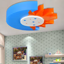 Cartoon Children S Room Lamp Led Ceiling Lights Kids Boys And Girls Bedroom Room Lights Sun And Moon Lighting Fixtures Light Armband Light Covers For Ceiling Lightslights Sirens And Safety Aliexpress