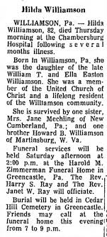 Hilda Williamson-obit - Newspapers.com