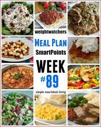 ww dinner plan menu 89 w smartpoints