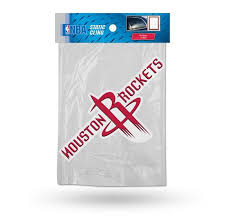 Houston Rockets Die Cut Static Cling Decal Sticker 7 X 4 New Car Win Hub City Sports