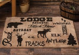 cabin life lodge kitchen bath rug