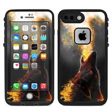 Skin Decal For Lifeproof Fre Iphone 7 Plus Or Iphone 8 Plus Case Wolf Howling At Moon Itsaskin Com