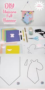 diy unicorn banner craft free