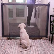 Dog Magic Gate Dog Pet Fences Ingenious Mesh Safe Guard Indoor And Outdoor Safety Enclosure Magic Gate For Dogs Cat Pet Dog Doors Ramps Aliexpress