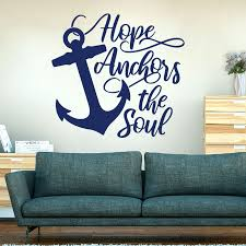 Hope Anchors The Soul Hebrews 6 19 Wall Sticker Kids Room Bibile Verse Anchors Inspirational Quote Wall Decal Bedroom Vinyl Wall Stickers Aliexpress