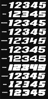 motocross race number font