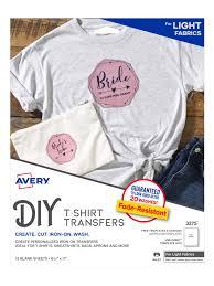 Avery Printer T Shirt Transfer Paper 12 Pk Office Depot