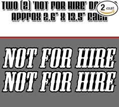 Amazon Com Jrs Decals Not For Hire Trailer Rv Decal Sticker Sports Outdoors