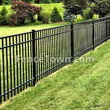 Black Aluminum Fence Black Swimming Pool Fence Fencetown