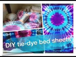 diy tie dye bed sheets pillowcases