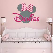 Girl Name Wall Decal Minnie Mouse Vinyl Decals Sticker Custom Etsy