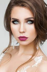 evening makeup looks for blue eyes