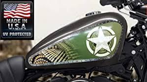 Amazon Com East Coast Vinyl Werkz 3 Pc Army Shield Panel Set Fuel Tank Decals For Harley Davidson Sportster Automotive