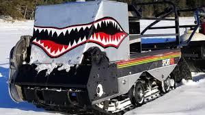 homemade motorized tracked fishing sled