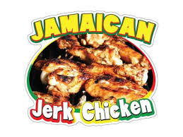Jamaican Jerk Chicken Decal Concession Stand Food Truck Sticker Newegg Com