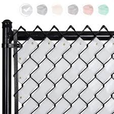 Fenpro Chain Link Fence Privacy Tape Arctic White Amazon In Garden Outdoors
