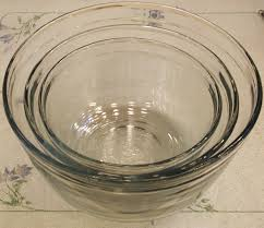 bowls glass baking mixing and