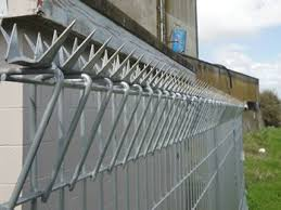 Anti Climb Spikes Add Deterrence To Perimeter Security Perimeter Security Security Fence Exterior Door Styles