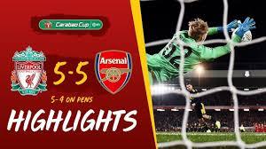 ไฮไลท์คาราบาวคัพ รอบ 4 ลิเวอร์พูล 5 – 5 อาร์เซนอล (จุดโทษ 5 – 4)   Arsenal,  Liverpool, Liverpool goalkeeper