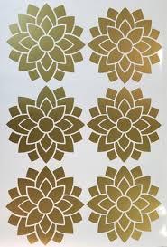 Metallics And Vinyl Decals Flower Wall Decals