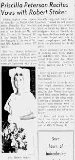 Wedding, 1966, Pricilla Peterson and Robert Stokes - Newspapers.com