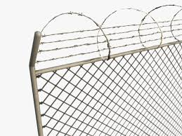 Low Poly Razor Wire Fence 3d Model 25 C4d Obj Max Fbx 3ds Free3d