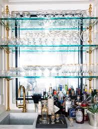 minus the brass accents glass shelving