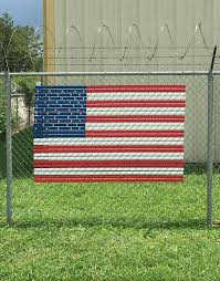 American Flag Slats For Chain Link Fence Pexco