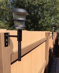 Solar Light Fence Mount 3 Pack Solar Fence Lights Backyard Lighting Diy Hanging Light