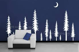 Huge Tree Pine Tree Forest Wall Sticker Moon Landscape Pine Trees Night Scene Vinyl Christmas Tree Decal Nature Home Decor Ea722 Buy At The Price Of 8 98 In Aliexpress Com Imall Com