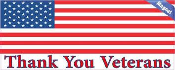 Thank You Veterans Magnet Bumper Stickers Thank You Veteran Bumper Decals