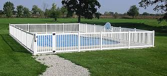 Vinyl Pool Fence And Vinyl Pool Fencing By A Vinyl Fence And Deck Wholesaler Fence Around Pool Backyard Pool Designs Pool Fence