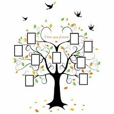 Family Tree Picture Frame Set For Walls Photo Decal Collage 9 Frames Home Gift For Sale Online