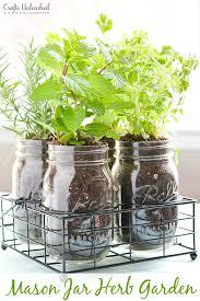 diy herb garden in mason jars crafts