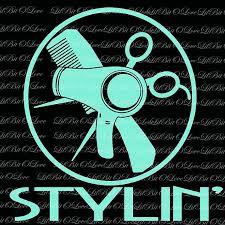 Stylin Vinyl Car Decal Cosmetology Hair Lilbitolove