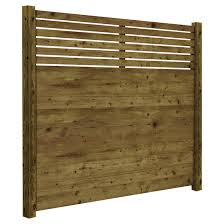 Fence Panel 6 X 6 Contemporary Preserved Wood Brown 73000675 Rona