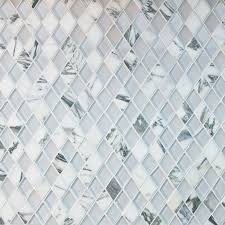 stone and glass mosaic tiles