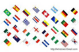 country flags world cup 2016 brazil