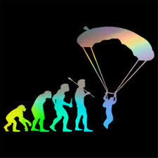 Skydiving Parachute Adventure Sports Wall Art Stickers Car Window Door Decal Ebay